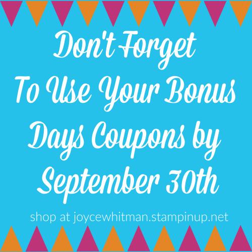 Bonus Days Coupons