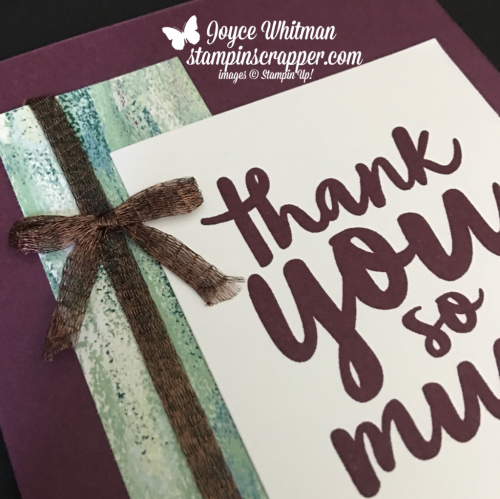 """Stampin Up, Stampin' Up! Thankful Thoughts stamp set #141522, Tranquil Textures designer series paper #146331, 1/4"""" Copper Trim #144179, CASEing Tuesday #162, created by Stampin Scrapper, for more cards, gifts, ideas, scrapbooking and 3D projects go to stampinscrapper.com, Joyce Whitman"""
