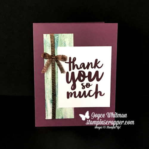 "Stampin Up, Stampin' Up! Thankful Thoughts stamp set #141522, Tranquil Textures designer series paper #146331, 1/4"" Copper Trim #144179, CASEing Tuesday #162, created by Stampin Scrapper, for more cards, gifts, ideas, scrapbooking and 3D projects go to stampinscrapper.com, Joyce Whitman"