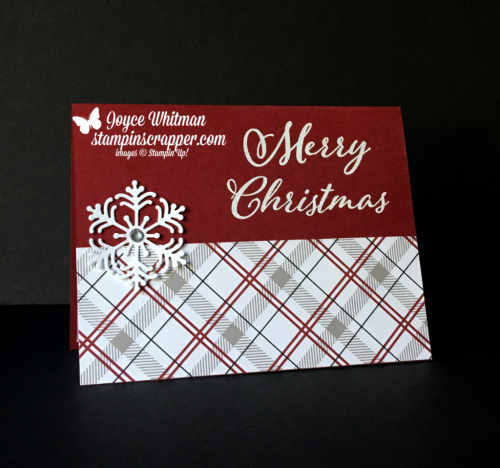 Stampin Up, Stampin' Up! Merry Christmas To All stamp set #147702, Blizzard Thinlits #147902, Festive Farmhouse designer series paper #147820, created by Stampin Scrapper, for more cards, gifts, ideas, scrapbooking and 3D projects go to stampinscrapper.com, Joyce Whitman