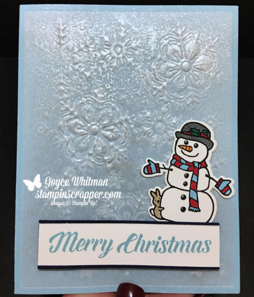Stampin Up, Stampin' Up! Seasonal Chums stamp set #144948, Blizzard Thinlits #147902, created by Stampin Scrapper, for more cards, gifts, ideas, scrapbooking and 3D projects go to stampinscrapper.com, Joyce Whitman