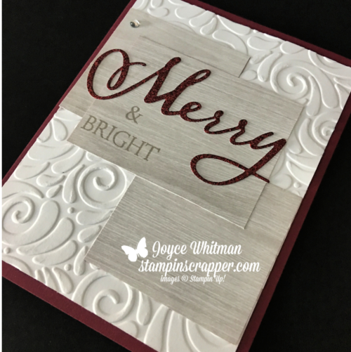 Stampin Up, Stampin' Up! Merry Christmas To All Bundle #149952, Swirls and Curls Embossing Folder #147923, Festive Farmhouse designer series paper #147820, created by Stampin Scrapper, for more cards, gifts, ideas, scrapbooking and more go to stampinscrapper.com, Joyce Whitman